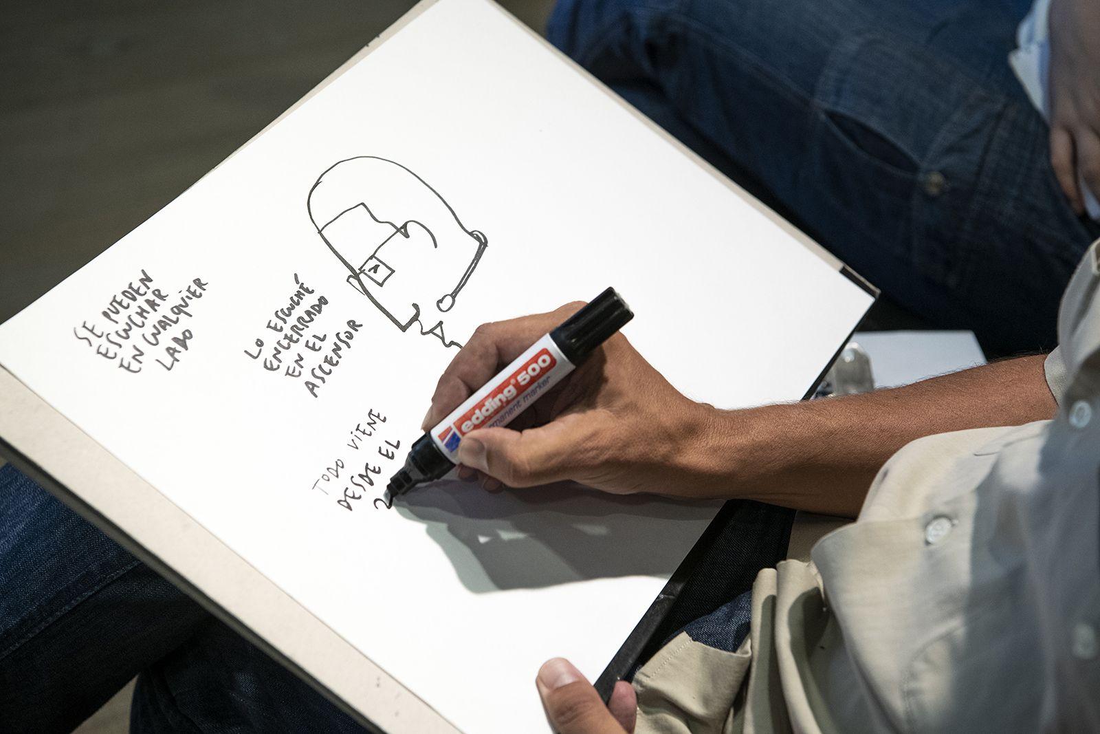 Enrique Flores, @cuadernista realizó ilustraciones como esta en este Hay Vida en Martes