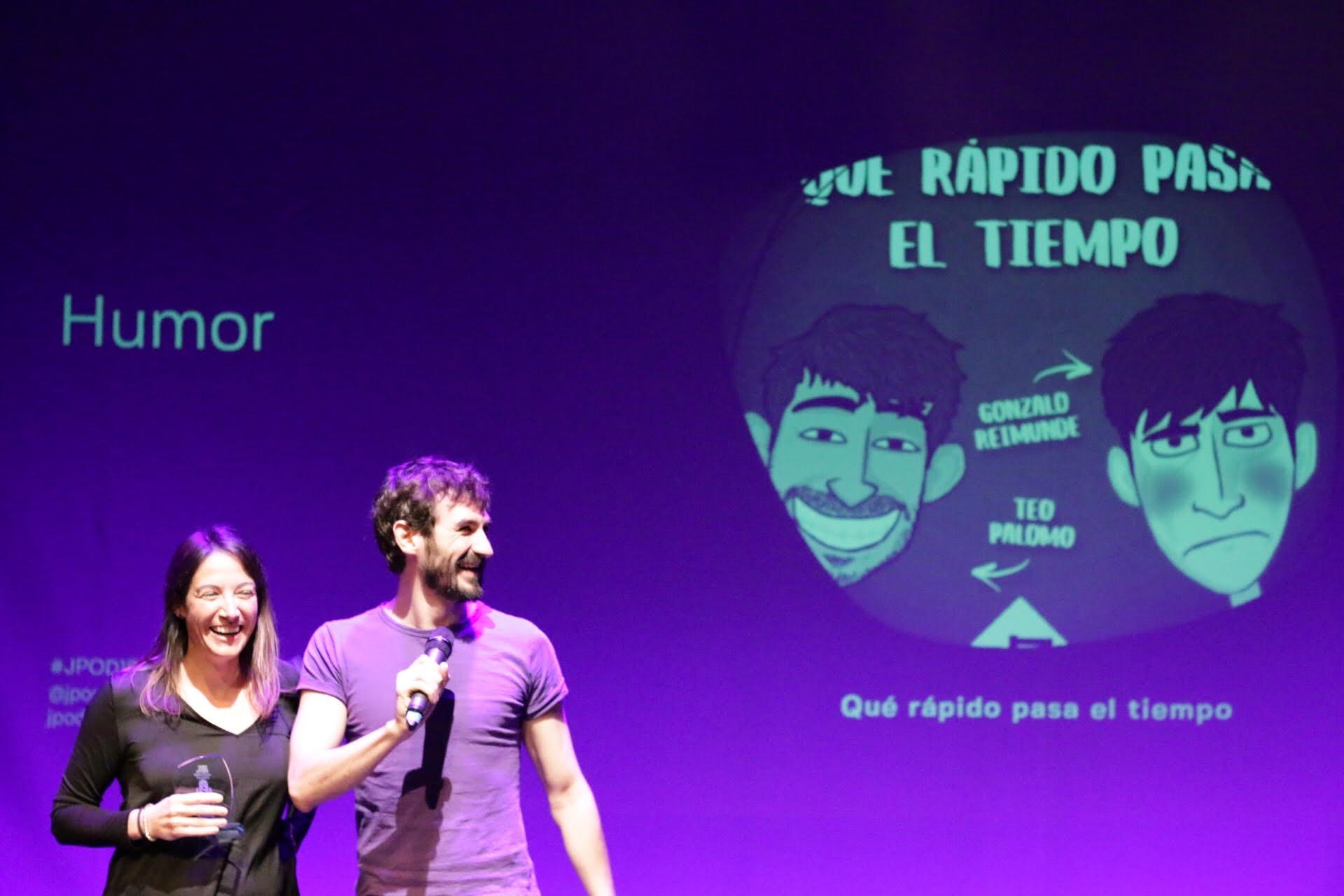 Foto: Patricia Torres - Qué rápido pasa el tiempo, ganadores del premio al Mejor Podcast de Humor 2018 en la IX Edición de los premios de la Asociación Podcast.