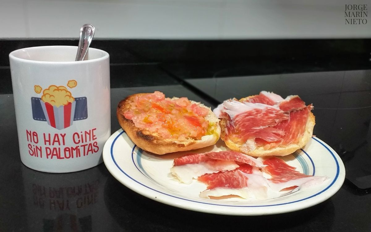 desayuno con palomitas