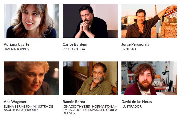 Guerra 3. Actores, actrices e ilustrador