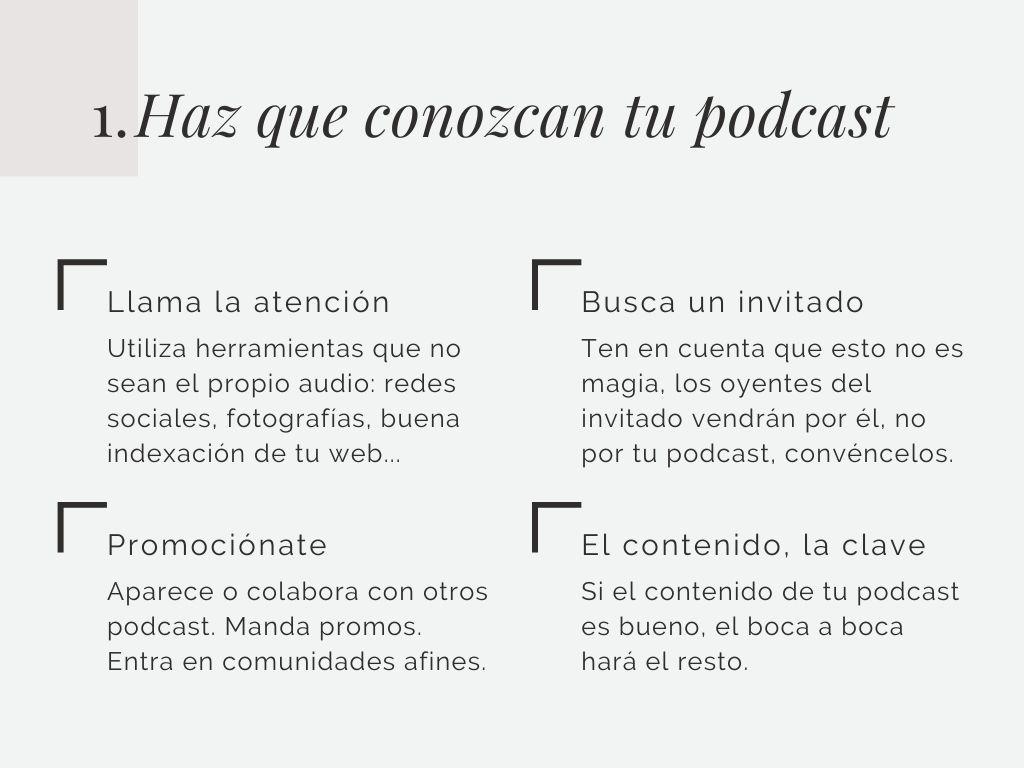 Haz que conozcan tu podcast. Las 5 fases para conseguir oyentes en tu podcast