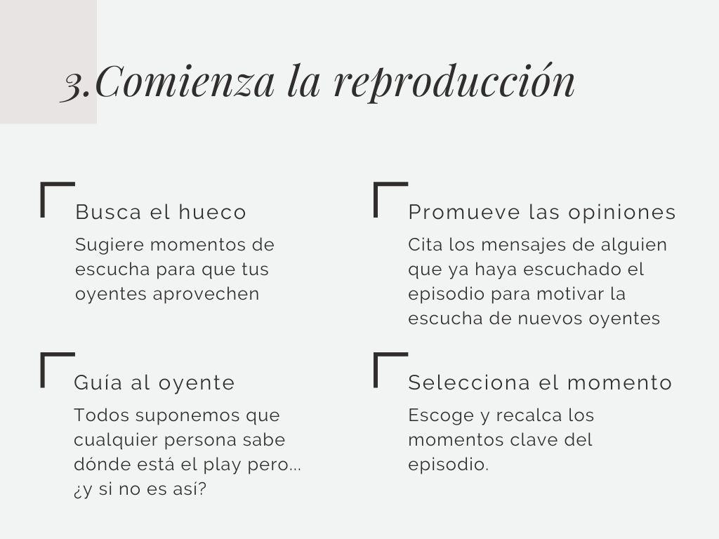 Comienza la reproducción. Las 5 fases para conseguir oyentes en tu podcast