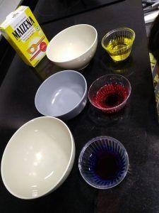 Preparando colores