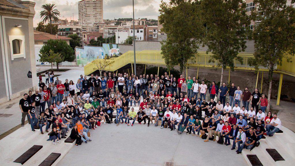 Foto de familia de JPOD17 en Alicante.