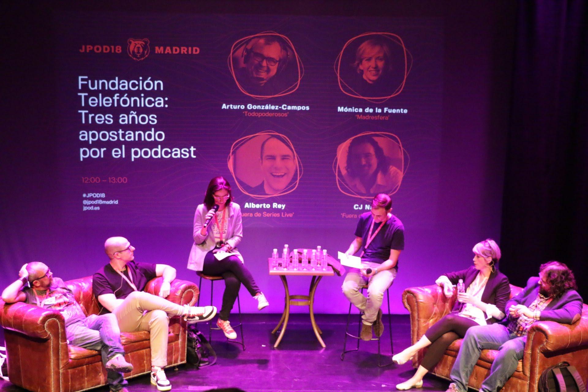 Foto: Patricia Torres - Fundación Telefónica y sus tres años apostando por el podcasting: Todopoderosos, Espacio Madresfera y Fuera de Series Live