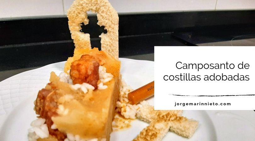 Camposanto de costillas adobadas - Receta de miedo destacada